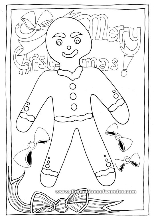 Free Add To Cart Checkout Added Back Top Of Christmas Coloring Pages Printables Gingerbread Man