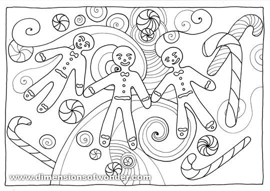 free - Gingerbread Coloring Pages