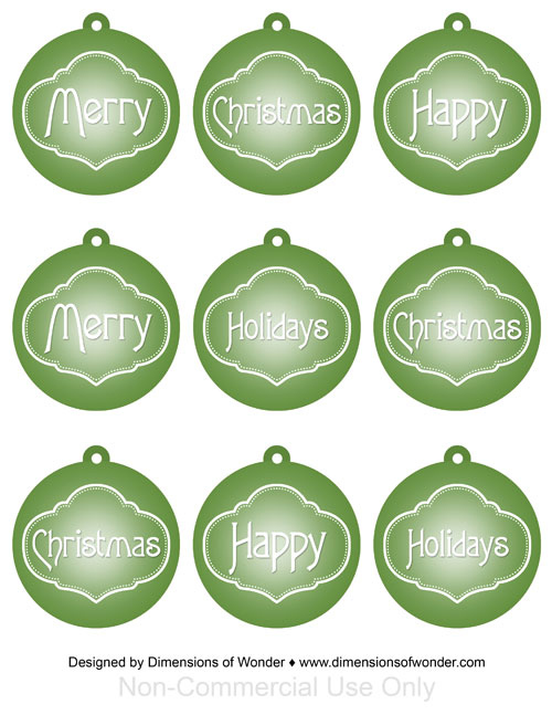 Printable-Christmas-Ornaments-Free-Green