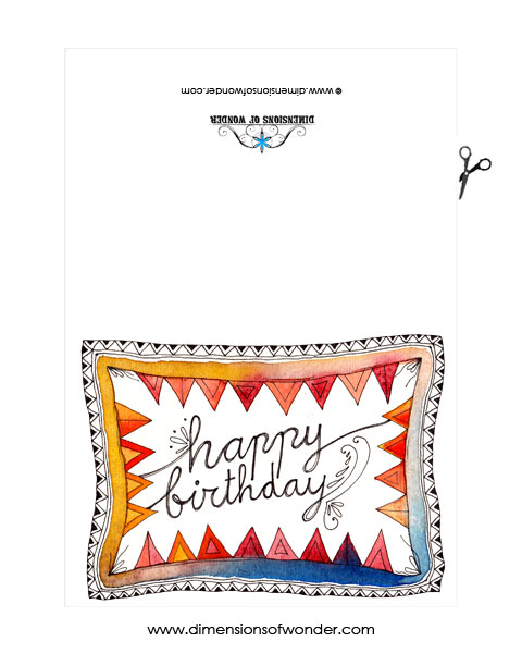 Free Printable Birthday Card :: Let's Wrap You In Bunting